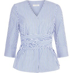 Helena Top Blue White 8 found on Bargain Bro UK from Hobbs