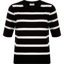 Paula Striped Sweater Black Ivory found on Bargain Bro UK from Hobbs