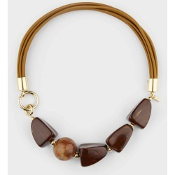 Olive Necklace Brown found on Bargain Bro UK from Hobbs
