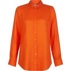 Kristina Linen Shirt Mango Orange found on Bargain Bro UK from Hobbs