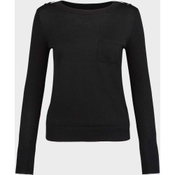 Anna Merino Wool Sweater Black found on Bargain Bro UK from Hobbs