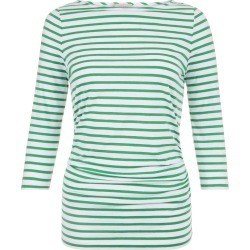 Rebecca Ruched Top Green White found on Bargain Bro UK from Hobbs