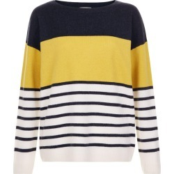 Sofia Wool Cashmere Striped Sweater Navy Multi found on Bargain Bro UK from Hobbs