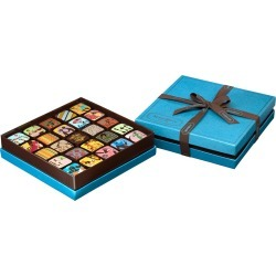25-piece Chocolate Ganache Box, Blue found on Bargain Bro India from horchow.com for $82.00
