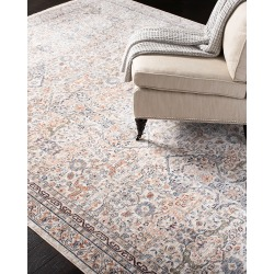 Belvoir Ivory Power-Loomed Rug, 9.9' x 13' found on Bargain Bro India from horchow.com for $1249.00