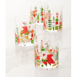 2019 New Crazy Good Cheer Glasses, Set of 4