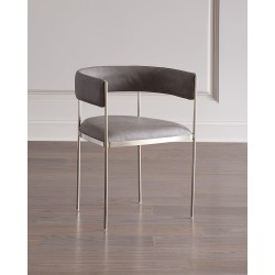 Ryland Faux Leather Dining Chair found on Bargain Bro from horchow.com for USD $1,055.64