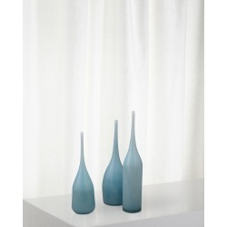 Pixie Decorative Vases in Periwinkle Blue Glass, Set of 3 found on Bargain Bro India from horchow.com for $410.00