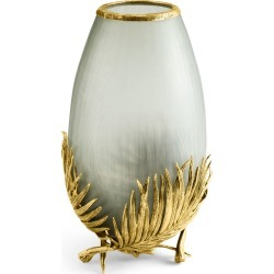 Palm Medium Glass Vase found on Bargain Bro from horchow.com for USD $304.00