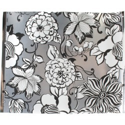 Avant-Garden Silver Large Wallpaper found on Bargain Bro India from horchow.com for $148.00