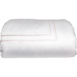 Simone King Duvet Cover, White/Ivory found on Bargain Bro India from horchow.com for $873.00