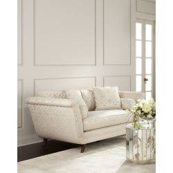 Ivory Trellis Sofa found on Bargain Bro from horchow.com for USD $3,571.24