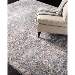 Belvoir Light Blue Power-Loomed Rug, 5.3' x 7.6' found on Bargain Bro India from horchow.com for $399.00