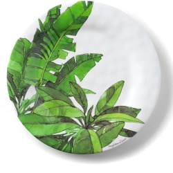 Flamingo Tropics Shatter-Resistant Bamboo Salad Plates, Set of 4 found on Bargain Bro India from horchow.com for $50.00
