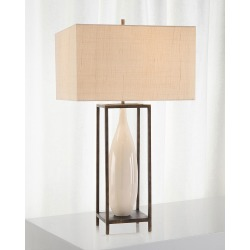 Framed Ceramic Urn Table Lamp found on Bargain Bro India from horchow.com for $845.00