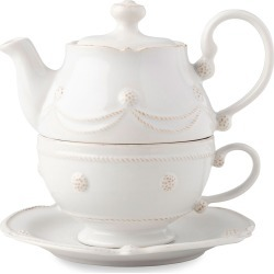 Berry & Thread Whitewash Tea For One Set found on Bargain Bro India from horchow.com for $125.00