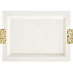 Milano Leather Serving Tray found on Bargain Bro India from horchow.com for $228.00