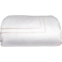 Simone Twin Duvet Cover, White/Ivory found on Bargain Bro India from horchow.com for $711.00