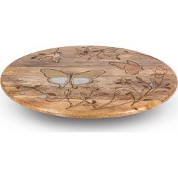 Mango Wood Laser Butterfly Lazy Susan found on Bargain Bro India from horchow.com for $230.00