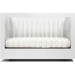 Roh Crib with 1 Acrylic Side, White found on Bargain Bro India from horchow.com for $2210.00