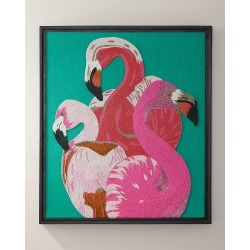 Flamingo Beaded Wall Art found on Bargain Bro India from horchow.com for $1650.00