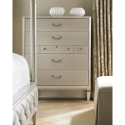 Pearly White Tall Chest of Drawers