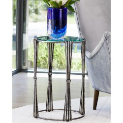 Tieback Antique Silver Accent Table found on Bargain Bro from horchow.com for USD $326.80