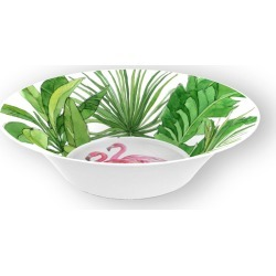 Flamingo Tropics Shatter-Resistant Bamboo Cereal Bowls, Set of 4 found on Bargain Bro India from horchow.com for $50.00