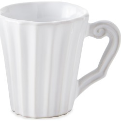 Incanto Stone White Pleated Mug found on Bargain Bro India from horchow.com for $50.00