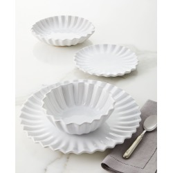 Incanto Stone White Pleated 4-Piece Place Setting found on Bargain Bro India from horchow.com for $198.00