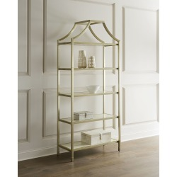 Bastien Stainless Steel Etagere found on Bargain Bro India from horchow.com for $2979.00