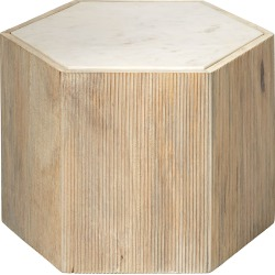 Medium Argon Hexagon Side Table found on Bargain Bro from horchow.com for USD $348.84