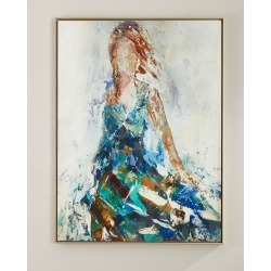 """""""Lady of the Manor"""" Handmade Wall Art on Canvas by Feng Ming"""