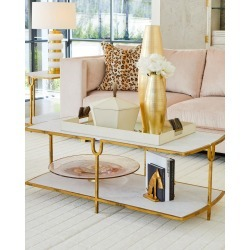 Curve Gold Cocktail Table found on Bargain Bro from horchow.com for USD $858.80