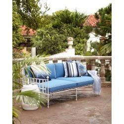 Avery Sofa, White/Blue found on Bargain Bro from horchow.com for USD $1,900.00