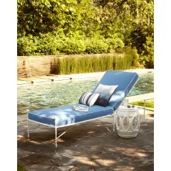 Avery Chaise, White/Blue found on Bargain Bro from horchow.com for USD $1,364.20