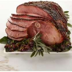 Hickory-Smoked Peppered Half Ham, For 10-12 People found on Bargain Bro India from horchow.com for $108.00