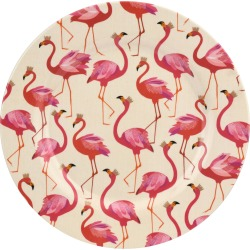 Flamingo Melamine Dinner Plates, Set of 4 found on Bargain Bro India from horchow.com for $57.00