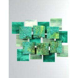 Coral Glass Wall Sculpture