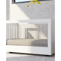 Roh Crib with 2 Acrylic Sides, White found on Bargain Bro India from horchow.com for $2725.00