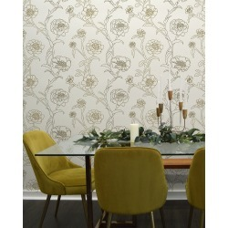 Peonies Removable Wallpaper found on Bargain Bro India from horchow.com for $135.00