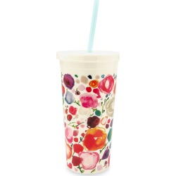 floral tumbler with straw found on Bargain Bro India from horchow.com for $18.00