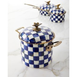 Royal Check 7-Qt. Stockpot found on Bargain Bro India from horchow.com for $218.00