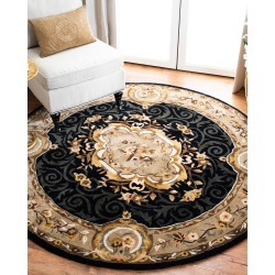Aubusson Night Rug, 6' Round found on Bargain Bro India from horchow.com for $499.00