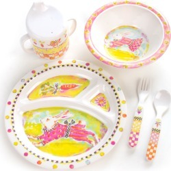 Toddlers' Bunny Dinnerware Set found on Bargain Bro India from horchow.com for $48.00