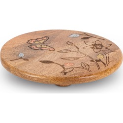 Mango Wood Laser Butterfly Round Trivet found on Bargain Bro India from horchow.com for $55.00