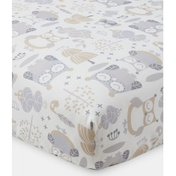Night Owl Fitted Crib Sheet found on Bargain Bro India from horchow.com for $25.00