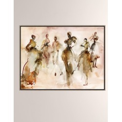 Fashion Week Giclee On Canvas Wall Art With Frame found on Bargain Bro from horchow.com for USD $334.40