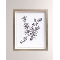 Floral Sketch Collection Framed Art 2 found on Bargain Bro from horchow.com for USD $558.60