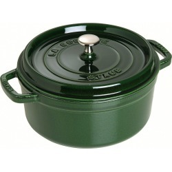 Staub Enamelled Cast Iron Round Cocotte 28cm Basil Green 6.7L found on Bargain Bro Philippines from house.com.au for $392.91